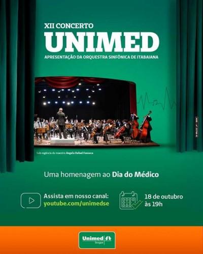 Unimed Sergipe exibirá grande concerto em homenagem ao Dia do Médico (Imagem: Divulgação)